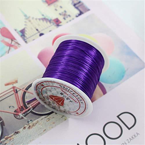 10M / 50M kleurrijke flexibele elastische kristal koord/rol maken sieraden kralen armband vislijn touw, 50m diep paars, 1 mm