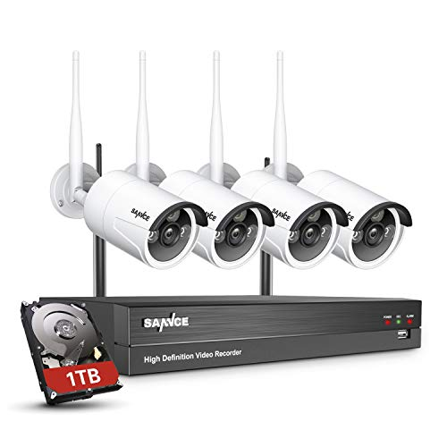 【Human Detection】SANNCE 8CH 1080P Home Wireless CCTV Camera System with...