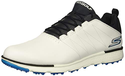 Skechers Men's Go Golf Elite 3 Shoe,white/navy,10.5 W US (Skechers Go Golf Pro 2 Lx Golf Shoes)