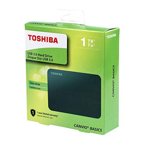 Toshiba (HDTB410XK3AA) Canvio Basics 1TB Portable External Hard Drive USB 3.0, Blac   k