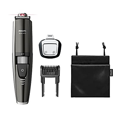 Philips Series 9000 Laser Guided Beard and Stubble Trimmer for Precise Symmetrical Beards -BT9297/13 by Philips