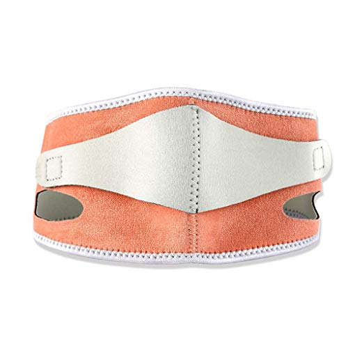 Cinturón Facial Fino, Vendaje Facial Fino Transpirable Levantamiento del sueño Reafirmante Doble mentón Máscara de corrección de Belleza (Color: Naranja)