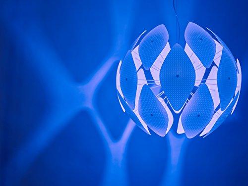 Philips myLiving Pendelleuchte Chiffon, 60 W, Plastik, E27, weiß, 59 x 59 x 52,4 cm, 4093331PN - 6