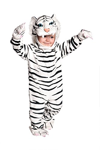 UNDERWRAPS Baby's Tiger Costume Jumpsuit, White, X-Large (4-6 Yrs)
