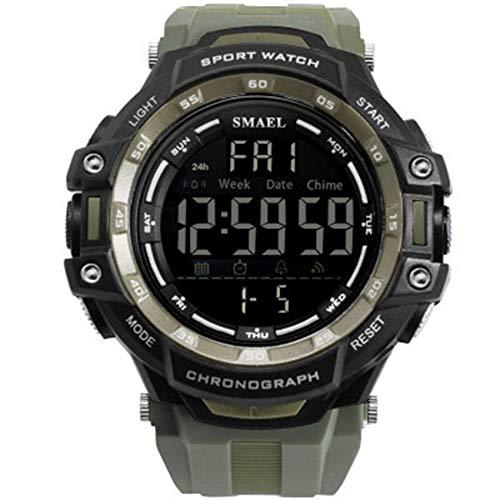AYDQC Digital LED Relojes de múltiples Funciones de los Hombres del Reloj electrónico de Deportes al Aire Libre Impermeable Reloj fengong (Color : D)