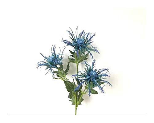 Roovtap 3 Köpfe/künstliche Petersilie Pflanze Blume AST Hochzeitshotel Blumenschmuck Fake Plastic Blume Home Decoration Dried Flower (Color : Blue)