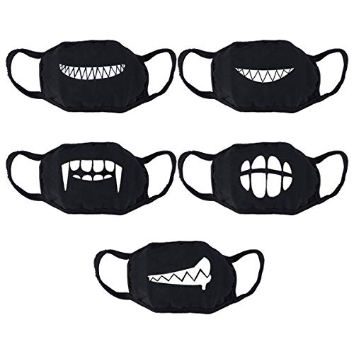 VOSAREA Baumwolle Gesichtmaske Anti Staub Wind Mundschutz Wiederverwendbar Mundmaske Staubschutzmasken