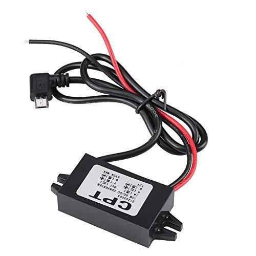 Abwärtswandler, 12V zu 5V Konverter, Spannungsregler Abwärtswandler USB Spannungswandler Abwärtsregler für Autoradio Radio Monitoring LED Anzeige