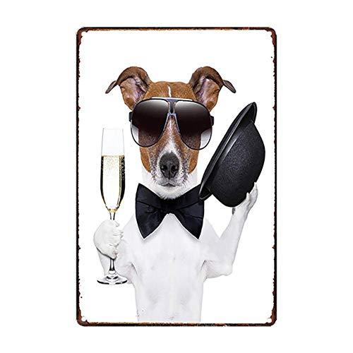 iTemer. 1Pcs Retro Cartel de Chapa Mascotas Gatos y Perros Póster Bar Cafe Restaurante Publicidad Pared Cartel para Puerta Cartel Metálico para Pared Decoración 20X30CM Style 11
