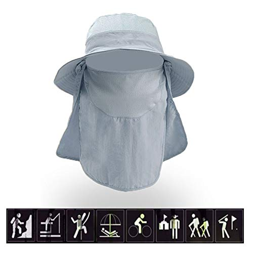 Outdoor UV Protection Sun Caps Fishing Hats Men's and Women's Hats Covering Neck Ears