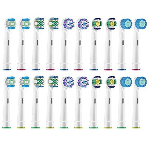 ブラシモ ブラウン オーラルB 電動歯ブラシ 替えブラシ 対応 20本入 互換ブラシ EB17 EB18 EB20 EB25 EB50