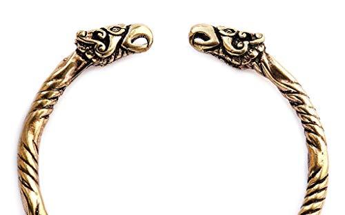 WINDALF Großer Asatru Männer Armreif HUGIN & MUNIN Ø 6.7 cm Vikings Odins Raben Wikinger Schmuck Hochwertige Bronze