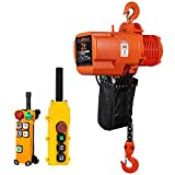 Prowinch 2 Ton Electric Chain Hoist Double Speed Wireless 20ft Lifting Height G100 Chain Water Resistant Pendant Control M4/H3 Duty Cycle 3 Phase 240/460V