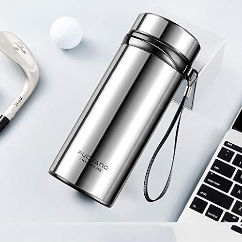 CJH Tasse à thé en plein air pour femmes, grande capacité, tasse isolante en acier inoxydable pour hommes