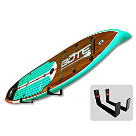 Storeyourboard naked sup, the original minimalist paddleboard wall storage rack 2 heavy duty: aluminum construction will hold your standup paddle board, and won't rust the original minimalist design: great for displaying your paddleboard at home when you're not on the water padded protection: heavy duty felt lines the rack's arms, keeping your sup safe and secure while hanging on the wall