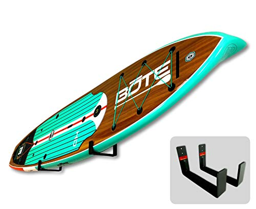 StoreYourBoard Naked SUP, The Original Minimalist Paddleboard Wall Storage Rack 1 HEAVY DUTY: Aluminum construction will hold your standup paddle board, and won't rust THE ORIGINAL MINIMALIST DESIGN: Great for displaying your paddleboard at home when you're not on the water PADDED PROTECTION: Heavy duty felt lines the rack's arms, keeping your SUP safe and secure while hanging on the wall