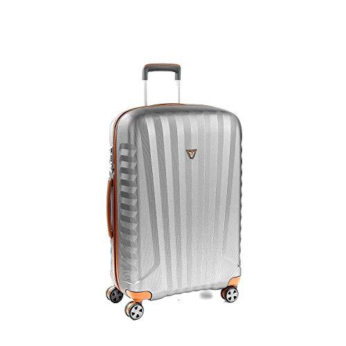 Roncato Mittelgrosser Spinner 72 cm Hartschalen E-Lite - cm. 72 x 46.5 x 24 Fassungsvermögen 72 L Leicht Organisierter Innenraum TSA-Schloss 10 Jahre Garantie