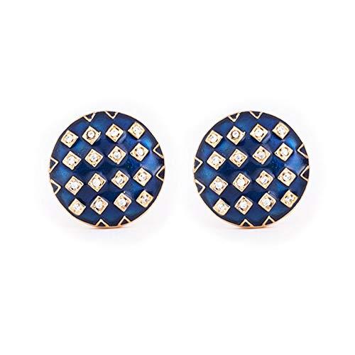 Rosec Jewels Art Deco Manschettenknöpfe, Emaille, Vintage-Stil, amerikanischer Diamant, personalisierbar, für Bräutigam, Hochzeit, Messing