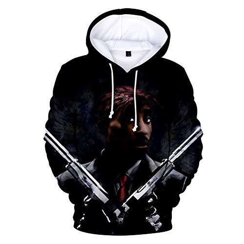 IFITBELT 2PAC 3D New Casual Trend Sudadera Hombres
