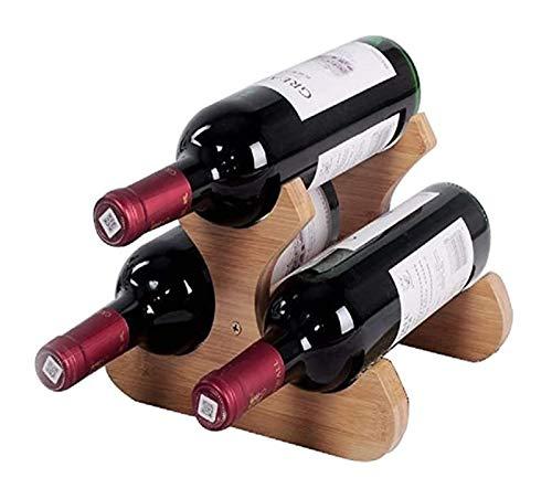 Soporte de Vino de Vino de Madera 3 Libros de Vino Champagne Botella de Almacenamiento Caja de Madera Soporte Interior
