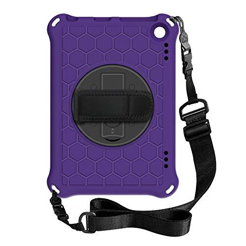Wivarra Funda para Tableta para Amazon Fire HD 8 / HD 8 Plus 2020 Funda Protectora AnticaíDas con Soporte para Tableta (PúRpura + Negro)