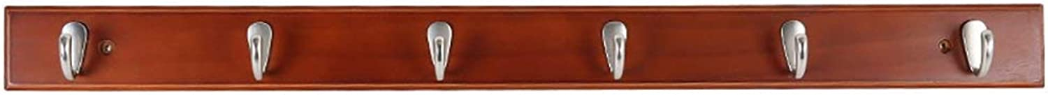 Shiyanghang Bedroom Living Room Solid Wood Wall-Mounted Clothes Hook Hanger After The Entrance Door Simple Modern Wall Coat Rack (color   Brown, Size   A)