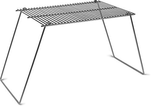 Campinggrill Grillrost, klappbar, 38 cm x 25 cm, rostfreier Stahl, vernickelt