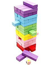 Colorful Wooden Tumbling Tower Blocks Family Game and Children Educational toy