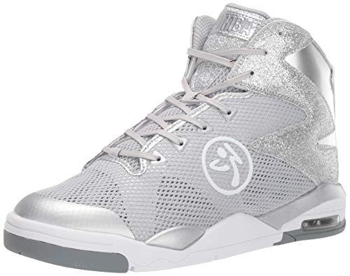 Zumba Fitness Damen Zumba Air Classic Sportliche High Top Tanzschuhe Fitness Workout Sneakers Dance Shoe, Silver Lining, 40 EU