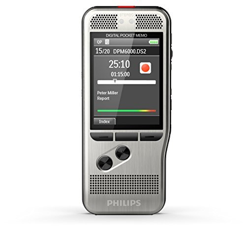 PHILIPS DPM6700/01 Digital Pocket Memo Range Recorder Starter Set with SpeechExec Version 8 Starter-Set Workflow Software and Push Button Operation Photo #3