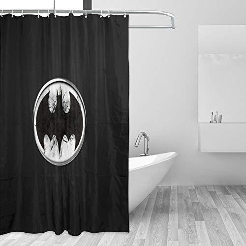 Why So Serious Joker Batman Duschvorhang Wasserdicht Badvorhang Waschbar Badvorhang Polyestergewebe Badezimmer Duschvorhang-Set 3D Duschvorhänge für Badezimmer mit Haken 167,6 x 182,9 cm