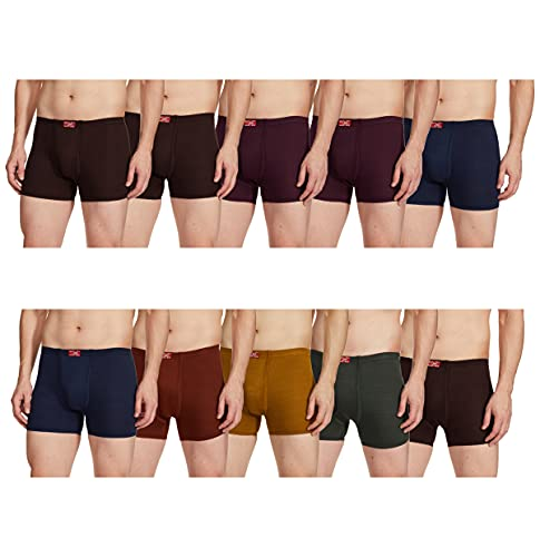 Rupa Jon Men's Cotton Trunks (Pack of 10) (Colors May Vary) (8903978688817_JN ACE Drawer_90_Assorted)