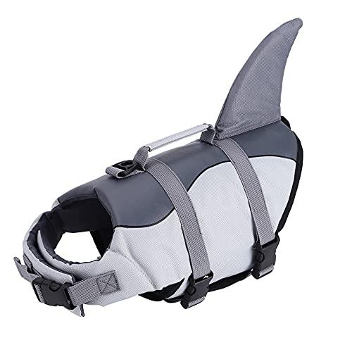 OKUGAIYA Chaleco salvavidas para perro, chaleco salvavidas para mascotas, chaleco salvavidas para perros pequeños, medianos y grandes, chaleco salvavidas para perros