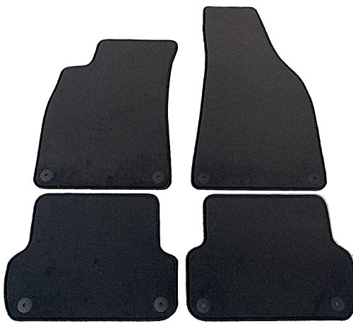 Alfombrillas de terciopelo para A4 B6-B7 del 2001 al 2007 a medida, antideslizantes, accesorios de coche