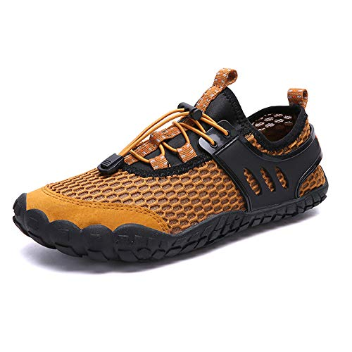 Ohyoulive Mens Water Shoes Quick Dry Beach Swim Hiking Jogging Shoes Sneakers Outdoor