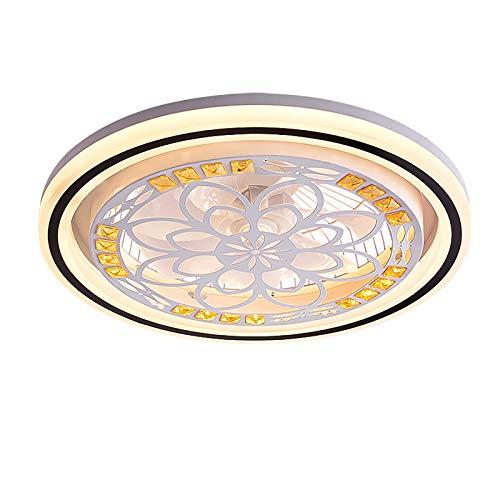 Lampara Ventilador Bajo Consumo Ventilador Techo Con Luz Y Mando A Distancia Led Silencioso Plafon Led Techo Para Salon Dormitorio Infantil Iluminación Led Interior