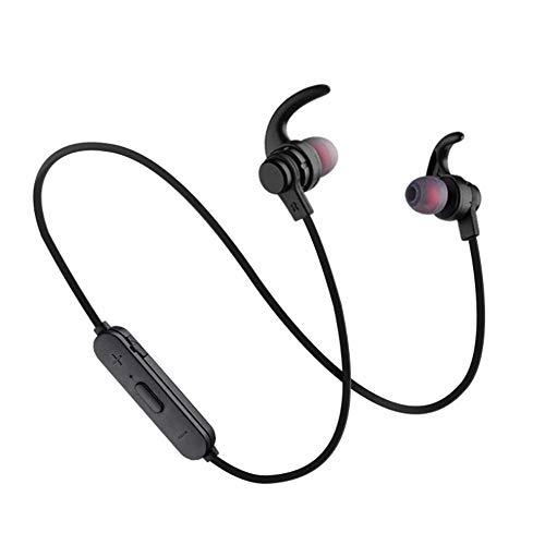 ZhongYi Bluetooth-hoofdtelefoon slanke lichte draadloze hoofdtelefoon sport-hoofdtelefoon met sweatproof CVC-ruisonderdrukking, cking mic, 6 uur speeltijd, voor gymhallenreis D