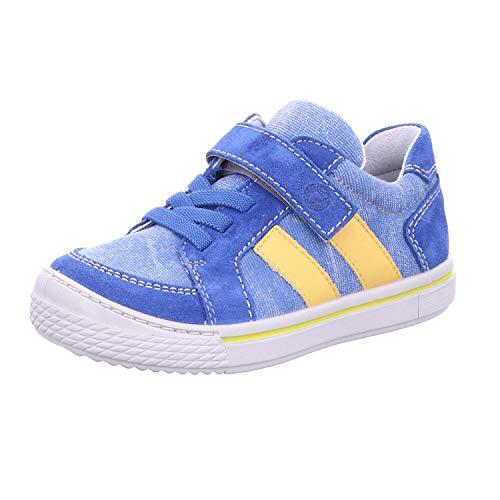 RICOSTA Kinder Low-Top Sneaker Jona, Weite: Mittel (WMS), Klett-Verschluss Kids Jungen Kinderschuhe toben Spielen verspielt,Azur/Aqua,33 EU / 1 UK