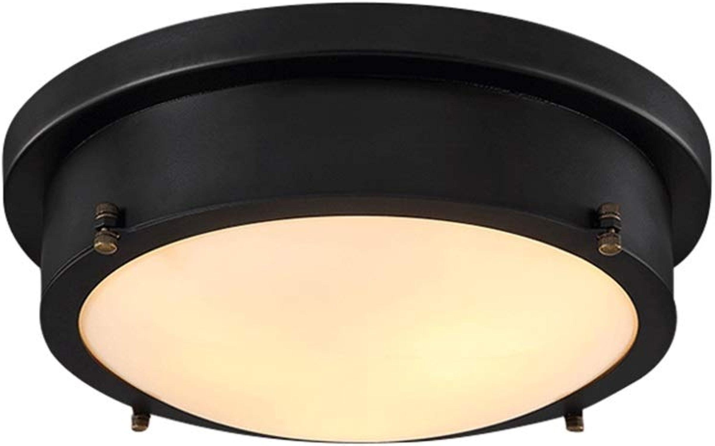 Plafonnier LED abat-jour Design Noir Industriel Chambre à coucher Couloir Salle d'étude Balcon Plafonnier Acrylique Abat-Jour Lumière Chaude (Design   Ceiling-35CM-24W)