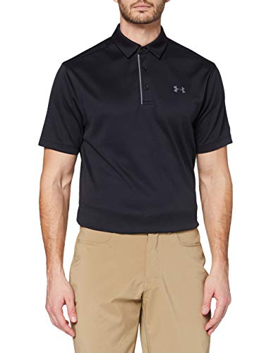 Under Armour Men's Tech Golf Polo , Black (001)/Graphite, 3X-Large