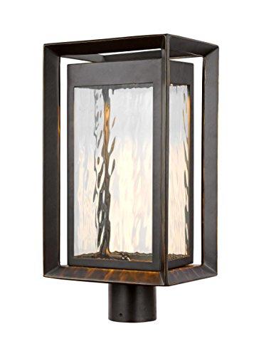 Feiss OL13707ANBZ-LED One Light Outdoor LED Post Lantern, Antique Bronze