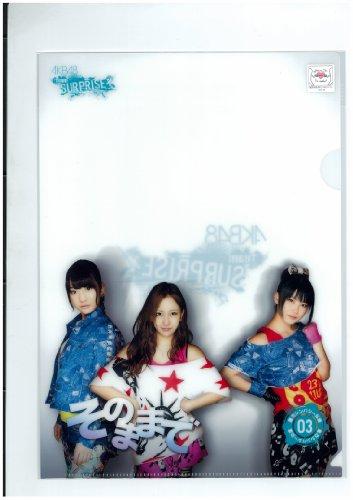 AKB48 そのままで チームサプライズ 限定 クリアファイル