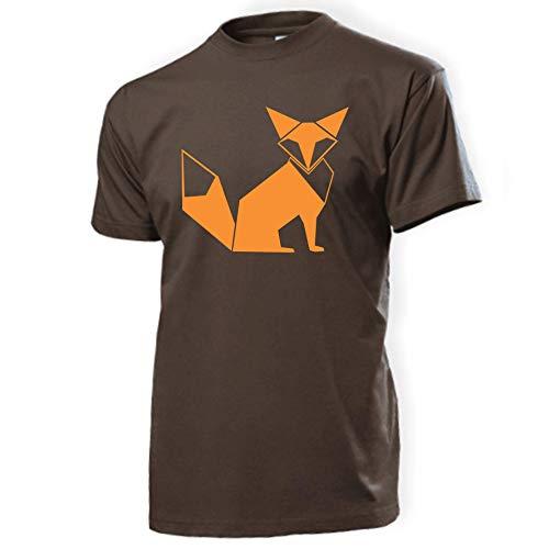 Herren T-Shirt \'Fuchs Origami\' Baumwolle