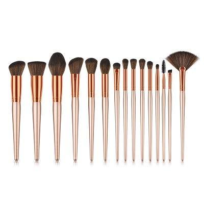 MEIYY Pinceau De Maquillage Maquillage Pinceaux 15Pcs / Set Flamme Cils Fondation Crayon Correcteur Manche En Bois Cosmétique Brosses Kit