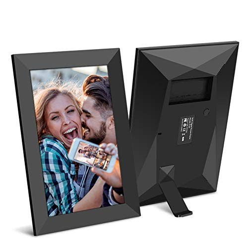 MXXQQ Digital Photo Frame, 8 Inch Wifi Electronic Photo Frame, Touch Screen Digital Picture Frame, with Remote Control Support USB/SD Card Photo/Music/Video