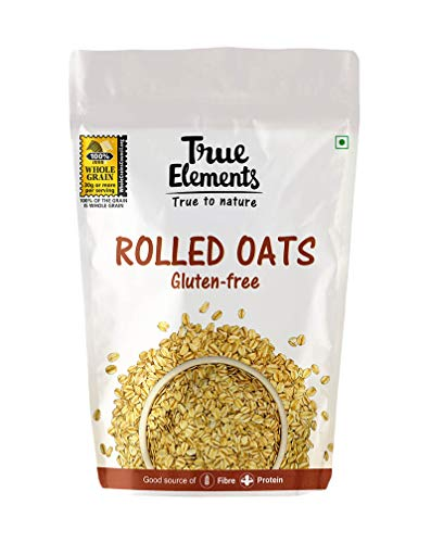 True Elements Rolled Oats, Gluten Free Oats, High in Fibre and Protein, 1kg