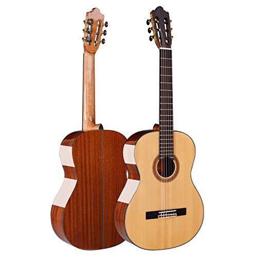 HUANH De gama alta de 39 pulgadas luz guitarra acústica clásica hecha a mano de guitarra clásica de alto grado de madera contrachapada de abeto HUANH (Color : Bright light)