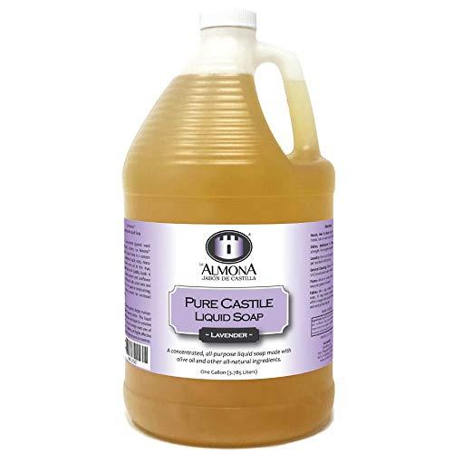 La Almona - Pure Castile Liquid Soap (Lavender), 1 Gallon