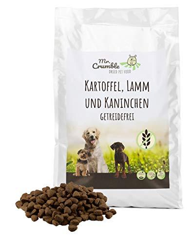 Mr. Crumble Dried Pet Food Hundefutter trocken getreidefrei mit Lamm, Kaninchen und Süßkartoffeln für adulte Hunde 15 kg