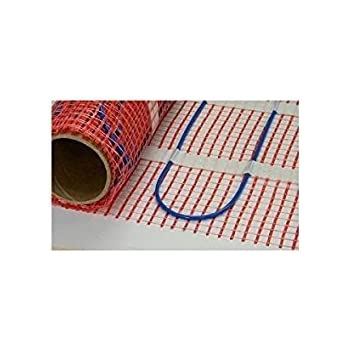 Electric Tile Radiant Warm Floor Heat Heated Mat Kit 120V Digital Thermostat